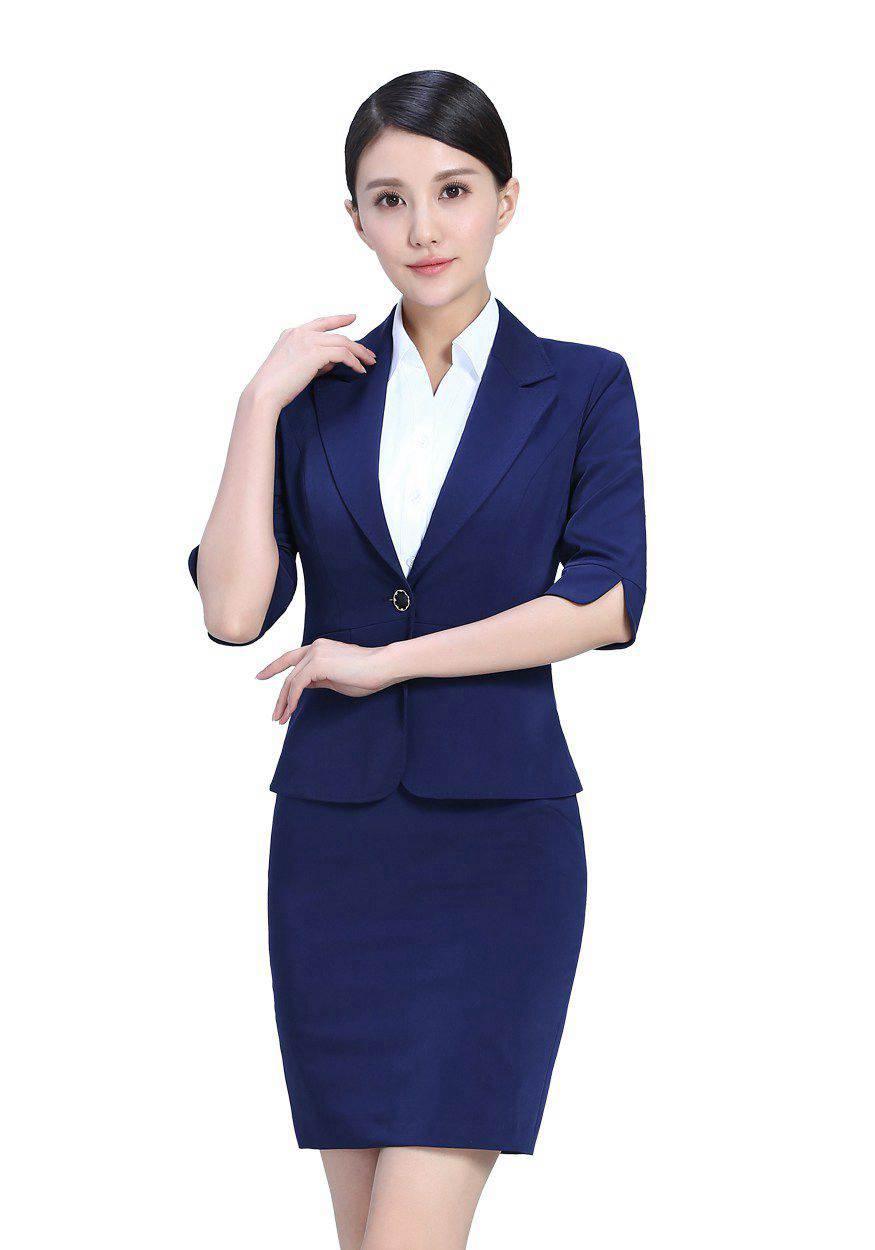 深蓝色女士职业装裙装