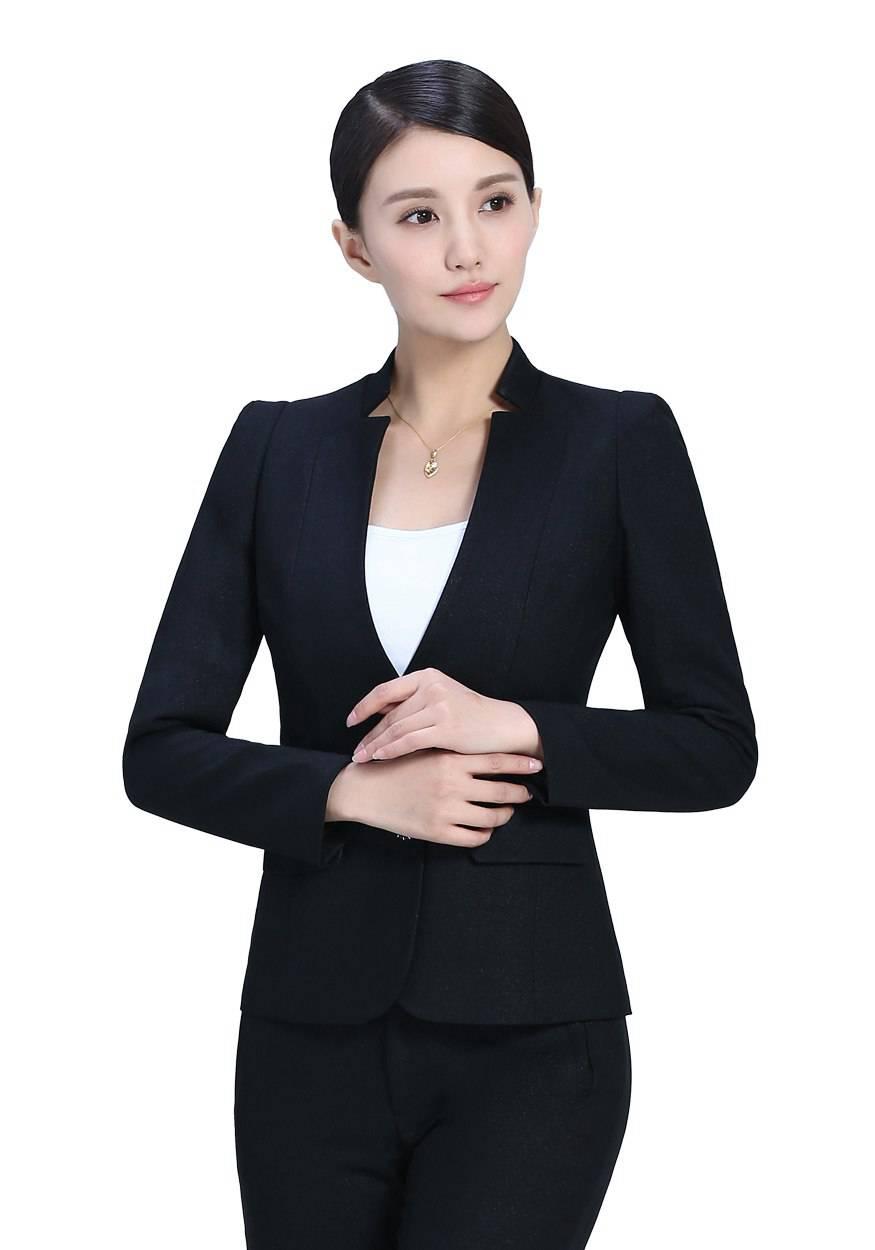 黑色女士职业装套装