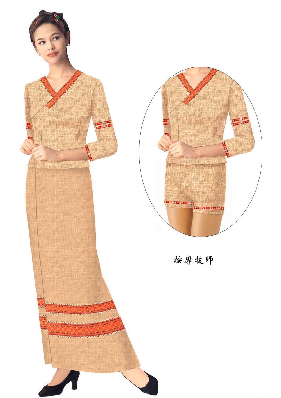 北京定做桑拿钟房员工作服之工作服常见颜色搭配示例