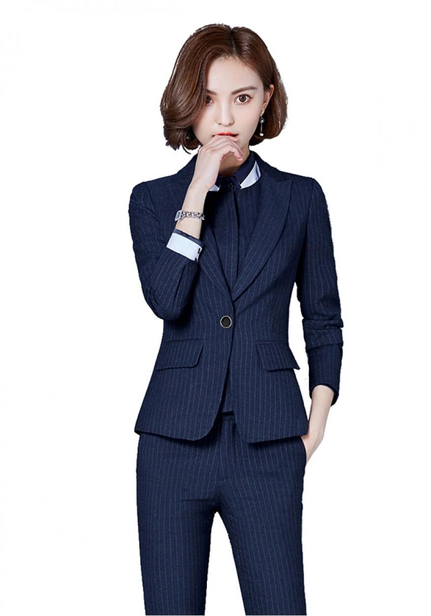 蓝色女士商务西装