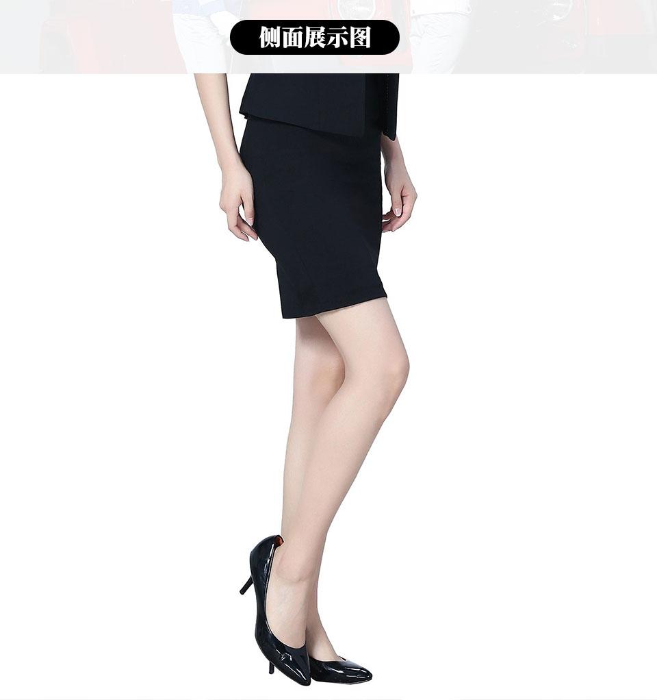 新款枣红+裙商务涤棉细斜深蓝色女裙