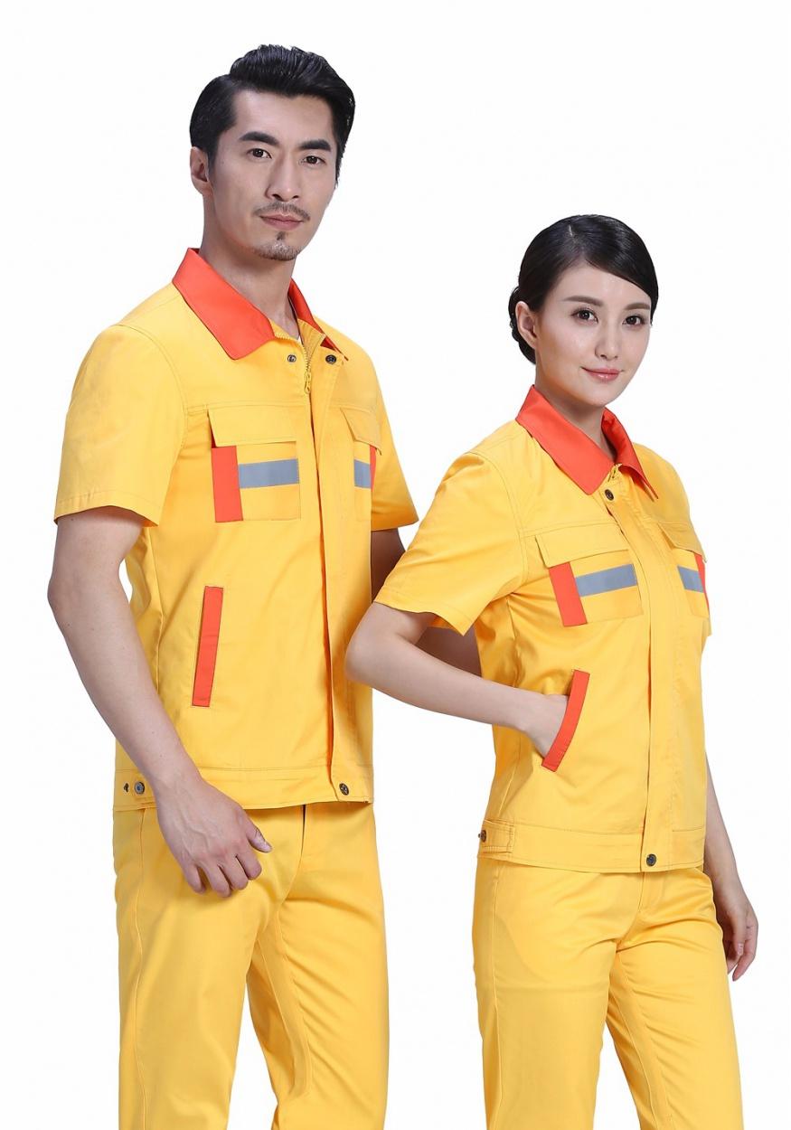 新艳兰色夏季涤棉斜纹休闲工装裤