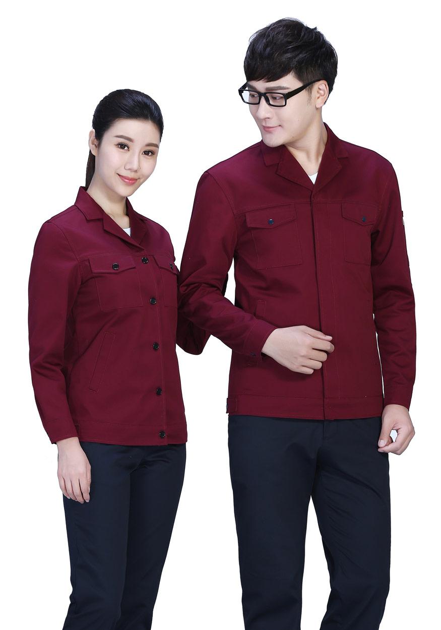 新款桔红色春秋工作服FY8001
