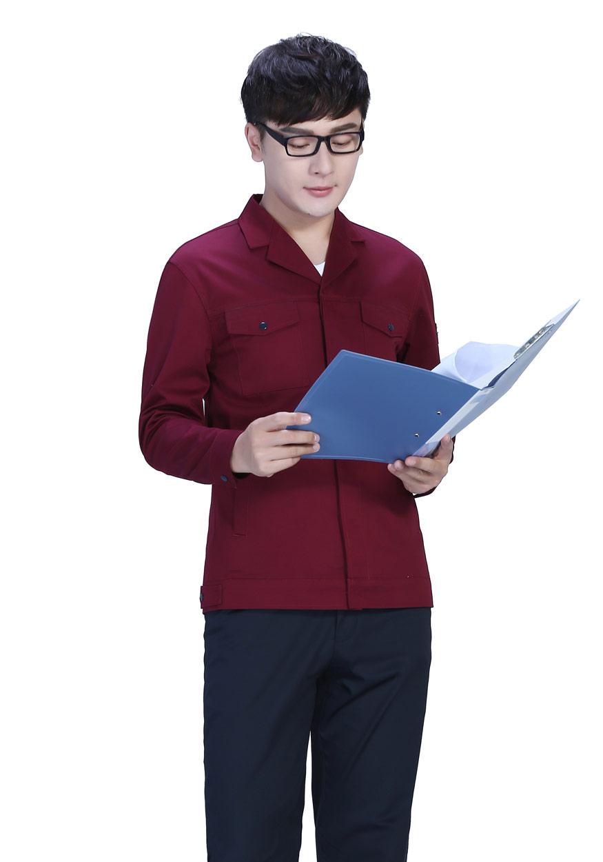 新款哈青色春秋工作服FY8001