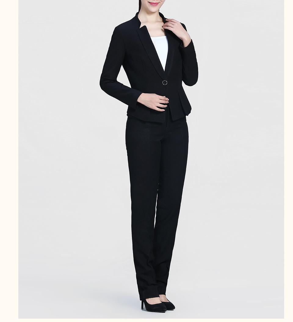 新款黑色修身时尚职业套装FX07