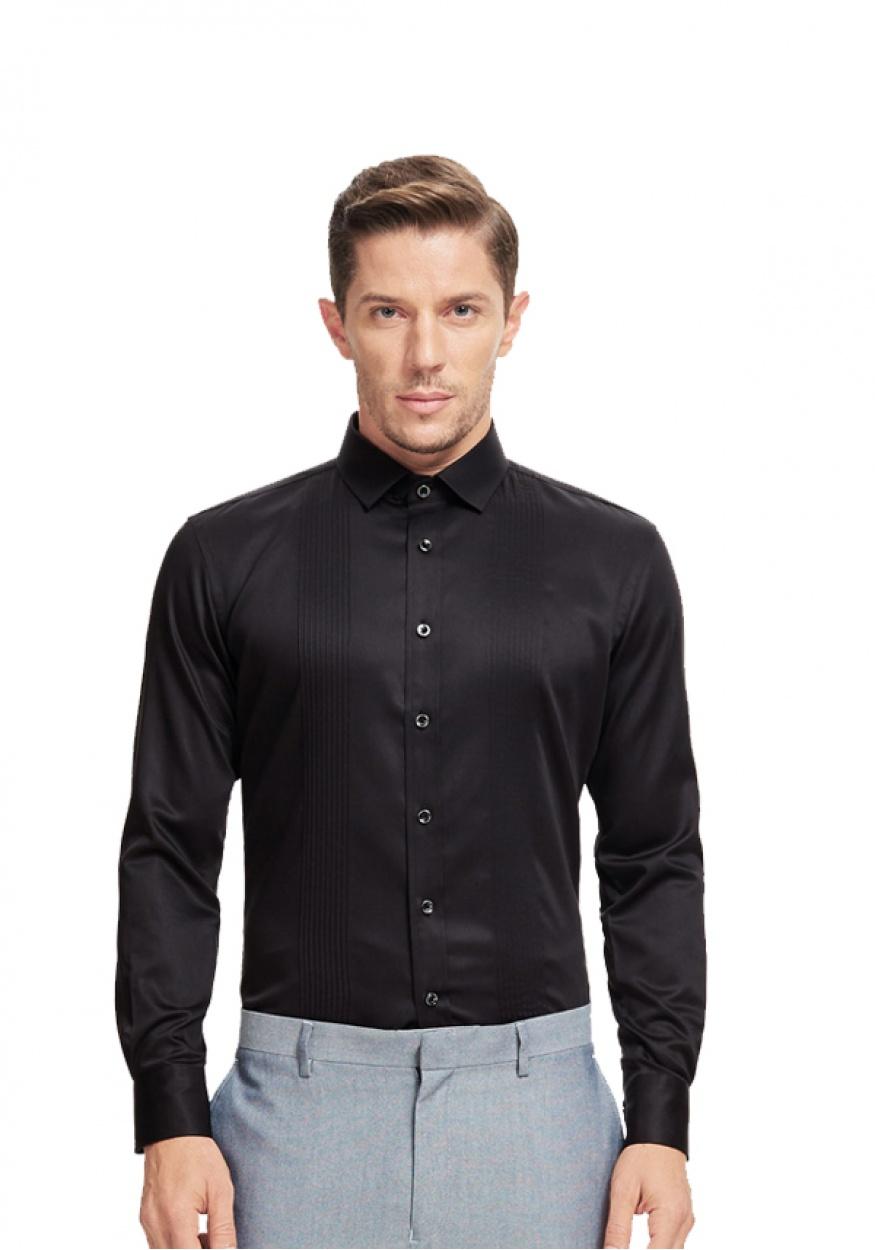 2019新款黑色男士职业衬衫
