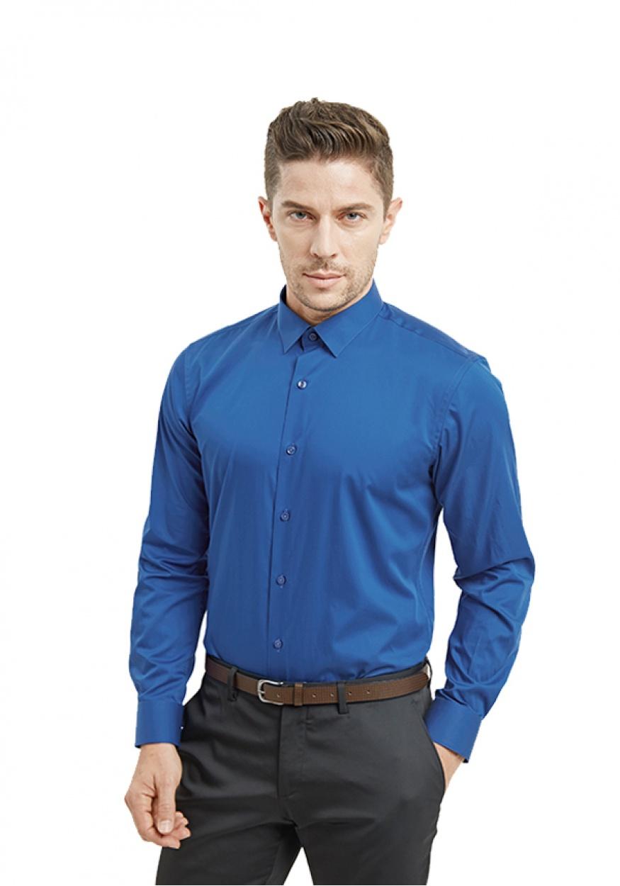 2019新款蓝色男士职业时尚衬衫