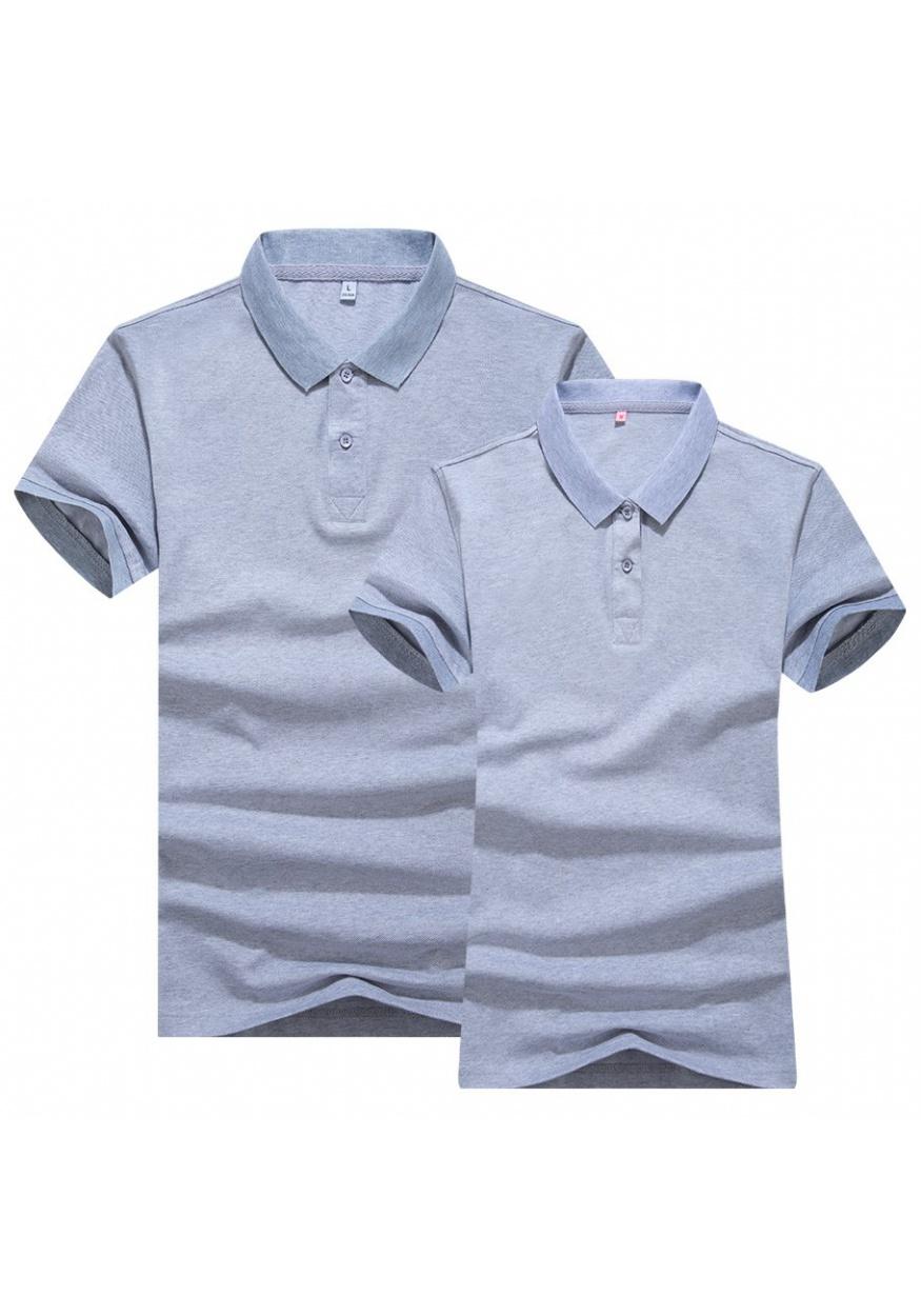 2019新款麻灰双色丝光POLO衫T恤