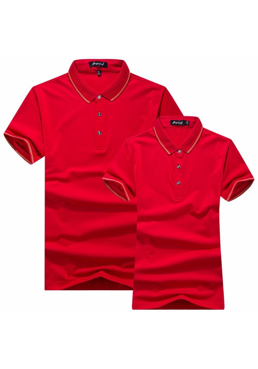 2019新款大红色精品T恤POLO衫可定制