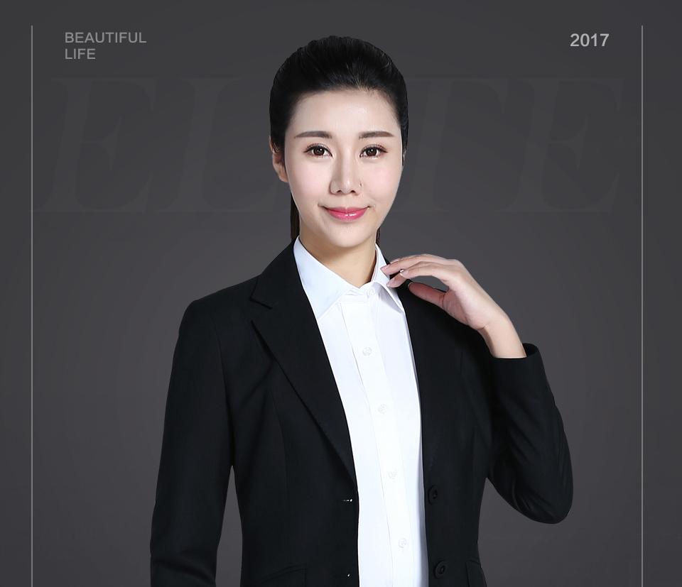 2019新款女士西装二粒扣职业装FX02